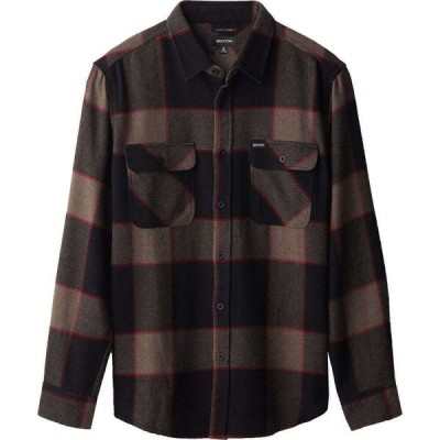 ブリクストン Brixton メンズ シャツ ネルシャツ トップス Bowery Long - Sleeve Flannel Shirt Heather Grey/Charcoal