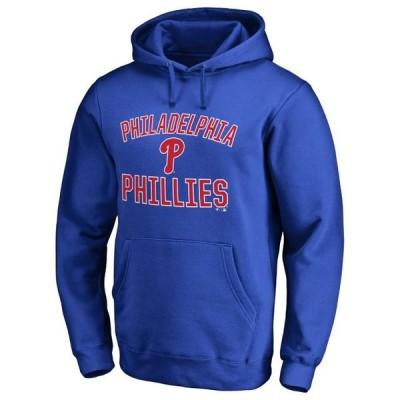 ユニセックス スポーツリーグ メジャーリーグ Philadelphia Phillies Victory Arch Pullover Hoodie - Royal Tシャツ