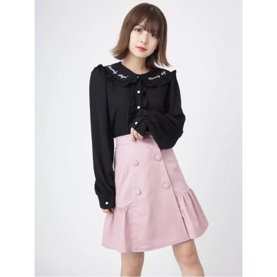 裾切り替えスカート