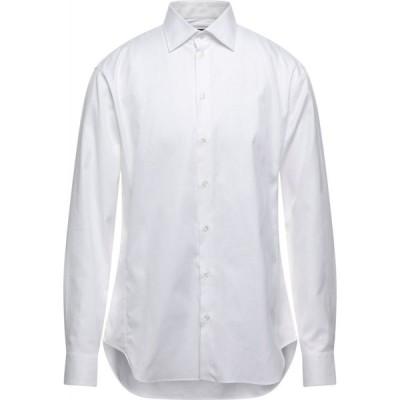アルマーニ GIORGIO ARMANI メンズ シャツ トップス Solid Color Shirt White