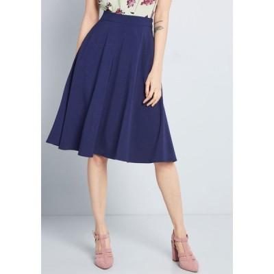 モドクロス ModCloth レディース ひざ丈スカート スカート just this sway a-line skirt blue