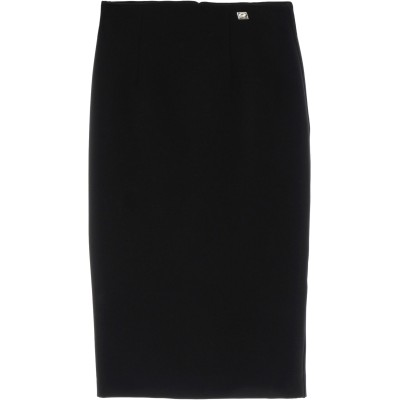 クラス ロベルト カヴァリ CAVALLI CLASS 7分丈スカート ブラック 38 ポリエステル 96% / ポリウレタン 4% 7分丈スカート