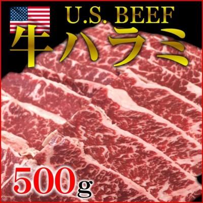 牛ハラミ アメリカ産 500g 使い切り 焼肉 バーベキュー BBQ 横隔膜 アウトサイド