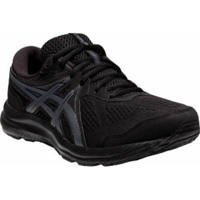 アシックス メンズ スニーカー シューズ GEL-Contend 7 Running Sneaker Black/Carrier Grey