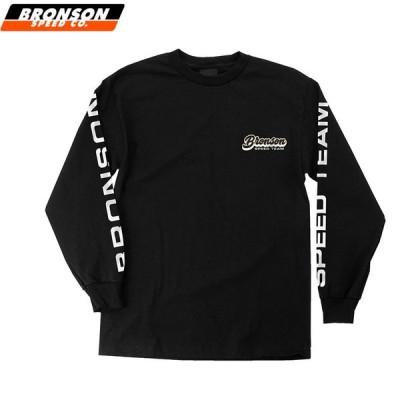 BRONSON SPEED CO ブロンソン スケボー ロンT SPEED TEAM L/S TEE ブラック NO2