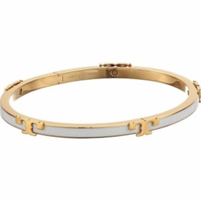 トリー バーチ Tory Burch レディース ブレスレット ジュエリー・アクセサリー Kira Enamel Stackable Bracelet Tory Gold/Optic White