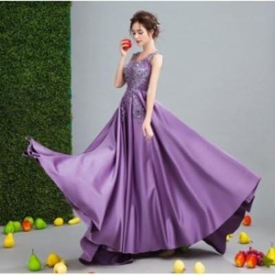 着痩せ 結婚式 プリンセスライン 韓国風 パーティードレス ウェディングドレス 冠婚 謝恩会 ロング丈ワンピース 二次会 大きいサイズ 演