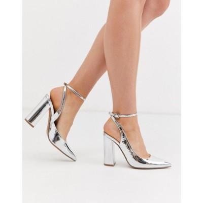 エイソス ASOS DESIGN レディース ヒール シューズ・靴 Pace High Block Heels In Silver