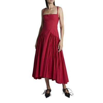 プロエンザショラー レディース ワンピース トップス Poplin Pleated Maxi Dress