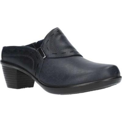 イージーストリート Easy Street レディース サンダル・ミュール シューズ・靴 cynthia comfort mule Navy Manmade