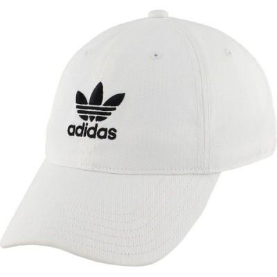 アディダス 帽子 アクセサリー メンズ adidas Men's Originals Relaxed Hat Black/White