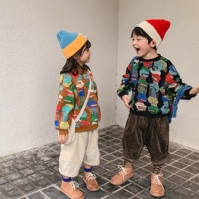 中小の男の子、男の子と女の子、ユニセックスのファッショナブルなトップス、赤ちゃんの肥厚とベルベットの秋と冬のセーターの潮と90-130