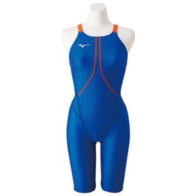 ミズノ 競泳用ハーフスーツ[ジュニア] 27ブルー 140 スイム 競泳水着 ストリームアクセラ N2MG8423