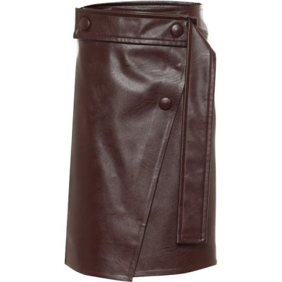 ステラ マッカートニー Stella McCartney レディース ひざ丈スカート スカート High-Rise Faux Leather Midi Skirt Mahogany