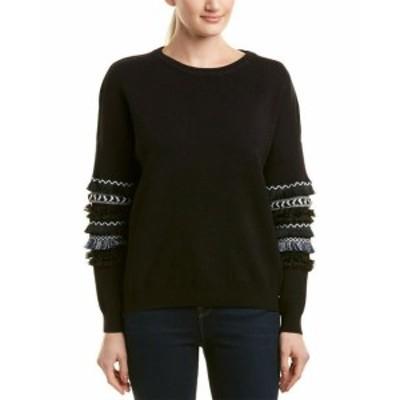 Allison  ファッション トップス Allison Trimmed Balloon Sleeve Sweater