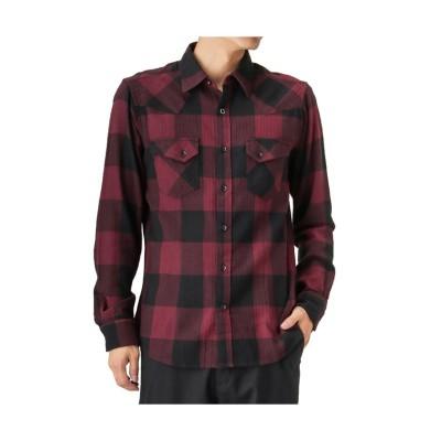 【マックハウス】 MOSSIMO 起毛チェックシャツ 8470-8411M メンズ ワイン M MAC HOUSE