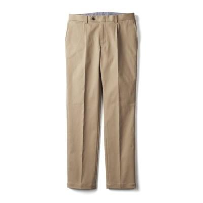 セールアイテム ファッション メンズファッション (股下丈73cm)ワンタック ストレッチピケ パンツ PC0639