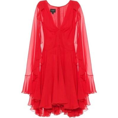 ジャンバティスタ バリ Giambattista Valli レディース パーティードレス ワンピース・ドレス caped crepe georgette minidress Red