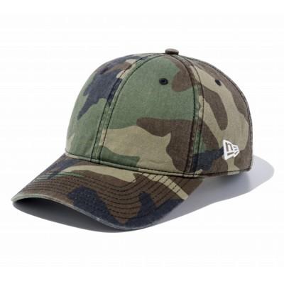 NEW ERA帽子 キャップ 9TWENTY クロスストラップ ウォッシュドコットン ベーシック ウッドランドカモ 11434011 日よけカモフラージュ