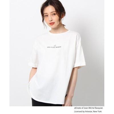THE SHOP TK(Women)(ザ ショップ ティーケー(ウィメン)) 【バスキア/Basquiat】【前後2WAY】コラボフォトTシャツ/STAYHOME