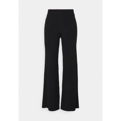 エヌ エー ケイ ディ カジュアルパンツ レディース ボトムス NA-KD X ZALANDO EXCLUSIVE RIBBED PANTS - Trousers - black