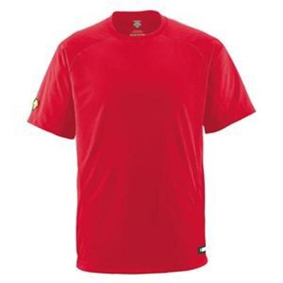 デサント(DESCENTE) ジュニアベースボールシャツ(Tネック) (野球) JDB200 レッド 140