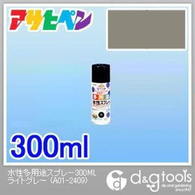 アサヒペン 水性多用途スプレー300ML ライトグレー 60 x 60 x 187 mm
