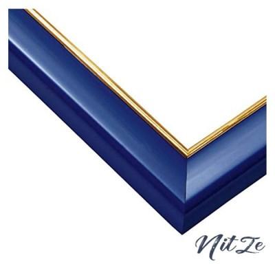エポック社木製パズルフレームウッディーパネルエクセレントゴールドラインシャインブルー(18.2x25.7cm)(パネルN