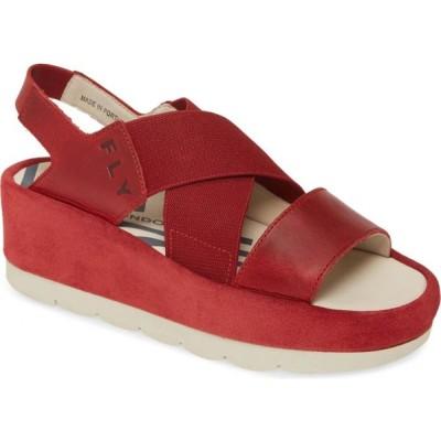 フライロンドン FLY LONDON レディース サンダル・ミュール ウェッジソール シューズ・靴 Bime Wedge Sandal Red Rug Leather/Suede