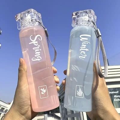 水筒/マグボトル 420ml 4色プラスチックのコップ 夏スポーツ大容量のコップ通学通勤旅プレゼント