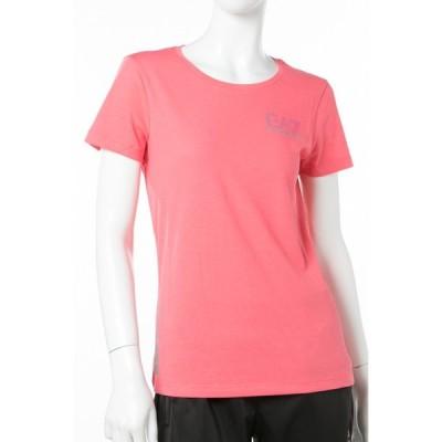 アルマーニ エンポリオアルマーニ Emporio Armani EA7 Tシャツ 半袖 丸首 レディース 3ZTT65 TJJ6Z ピンク