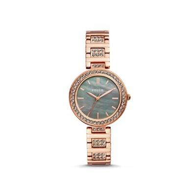 腕時計 フォッシル レディース BQ3422 Fossil Karli Three-Hand Rose Gold-Tone Stainless Steel Watch
