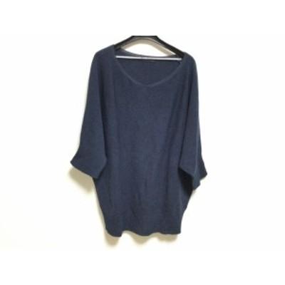 ダーマコレクション DAMAcollection 七分袖セーター サイズ2 M レディース - ネイビー【中古】20201116
