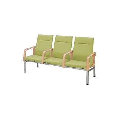 コクヨ      待合室用ベンチ 460シリーズ W1765×D700×H960MM CN-463HAA ホワイトグリーン