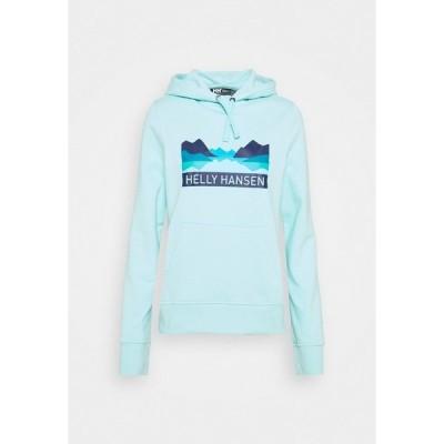 ヘリーハンセン パーカー・スウェットシャツ レディース アウター NORD GRAPHIC HOODIE - Hoodie - glacier blue