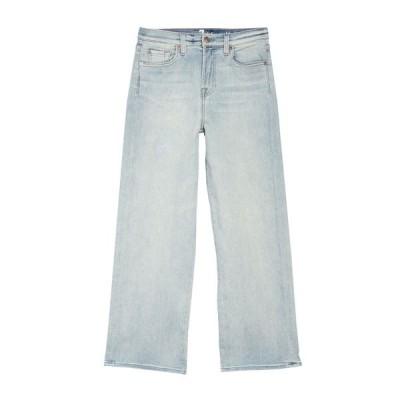 7フォーオールマンカインド レディース デニムパンツ ボトムス Cropped Wide Leg Jeans LVKINNEY