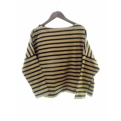 【中古】トラディショナルウェザーウェア Traditional Weatherwear ビッグマリンボートネックシャツ S 210406 ★