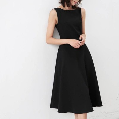 パーティードレス 結婚式 お呼ばれドレス 20代 30代 40代 結婚式ワンピース ノースリーブ 黒ロングワンピース 結婚式お呼ばれドレス大きいサイズ