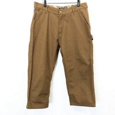 ILL'S イルズ XL メンズ 男性 ペインターパンツ ボトムス ワンポイント迷彩柄 ビッグサイズ 大きいサイズ 綿100% コットン ブラウン 茶色