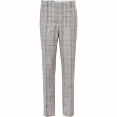 カルバンクライン Calvin Klein 205W39NYC レディース ボトムス・パンツ Plaid wool pants Black White Grenadine