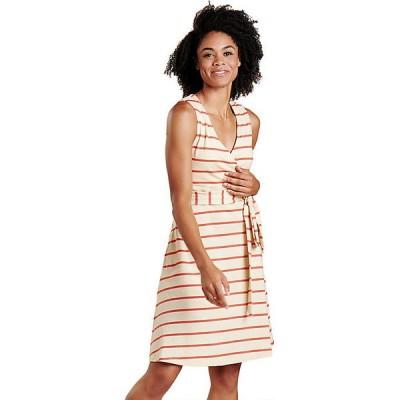 トードアンドコー ワンピース レディース トップス Toad & Co Women's Cue Wrap SL Dress Desert Wide Stripe