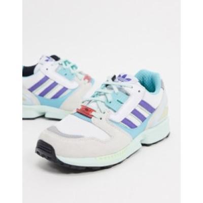 アディダス メンズ スニーカー シューズ adidas Originals ZX 8000 sneakers in pastel colors White