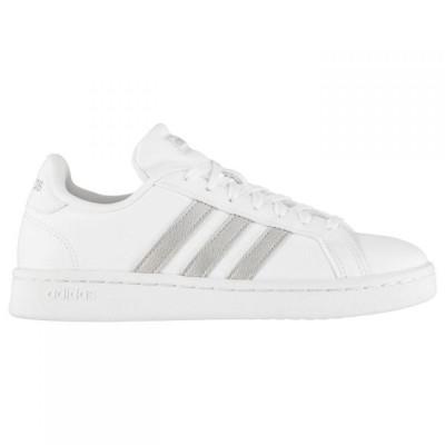 アディダス adidas レディース スニーカー シューズ・靴 Grand Court Trainers White/Gold