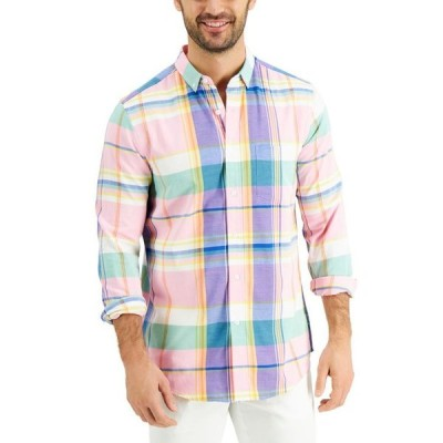 クラブルーム メンズ シャツ トップス Men's Regular-Fit Plaid Shirt
