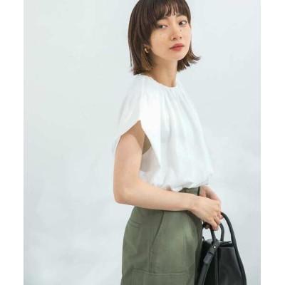 tシャツ Tシャツ 【WEB/一部店舗限定】ネックギャザーカットソー