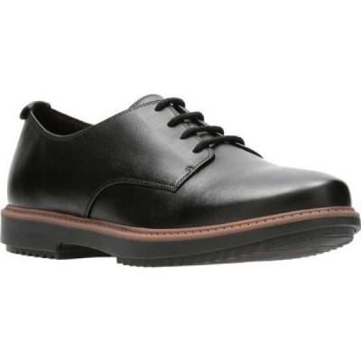 クラークス Clarks レディース ローファー・オックスフォード シューズ・靴 Raisie Bloom Oxford Black Full Grain Leather