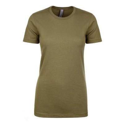 ユニセックス 衣類 トップス The Next Level Ladies Ideal T-Shirt - MILITARY GREEN - XS Tシャツ