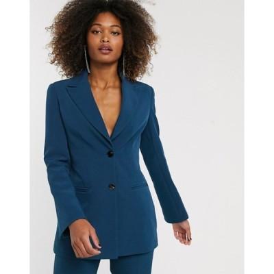 エイソス レディース ジャケット・ブルゾン アウター ASOS DESIGN pop suit blazer in teal