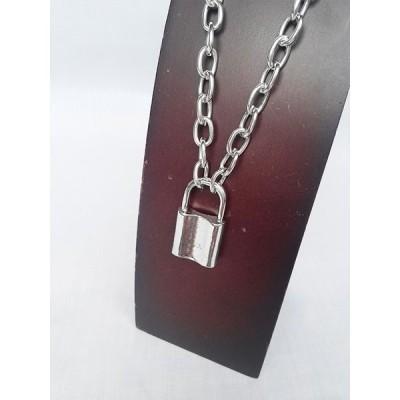 南京錠 鍵 パンク ロック シルバー 銀 SILVER ネックレス 1572