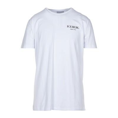 アイスバーグ ICEBERG T シャツ ホワイト XL コットン 92% / ポリウレタン 8% T シャツ